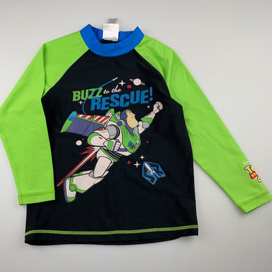 Boys Disney, Toy Story long sleeve rashie top, FUC, size 5,