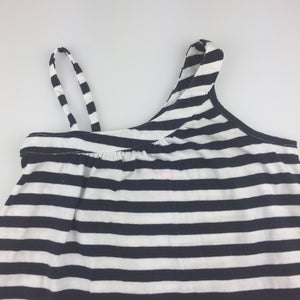 Girls Cotton On, navy & white stripe cotton sumer party dress, GUC, size 3