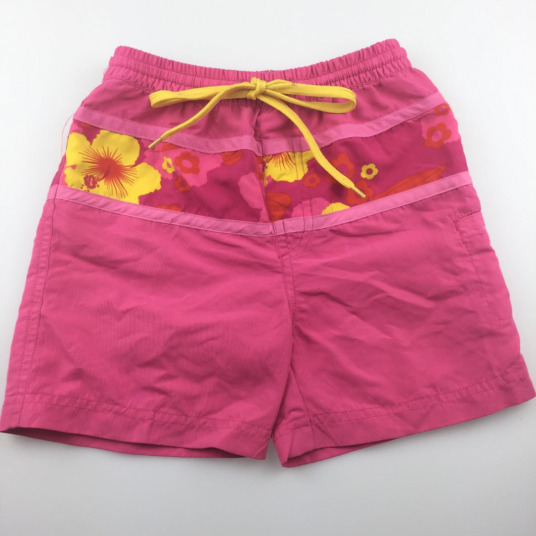 Girls Pacific Cliff, pink lightweight shorts / boardies, GUC, size 2