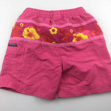 Load image into Gallery viewer, Girls Pacific Cliff, pink lightweight shorts / boardies, GUC, size 2