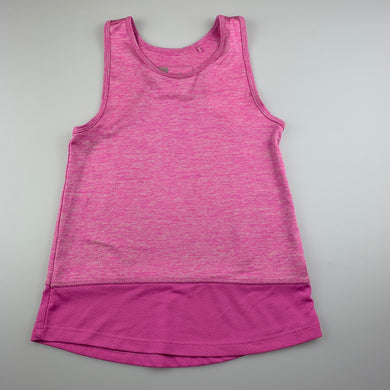 Girls Active & Co, pink sports / activewear top, EUC, size 7,
