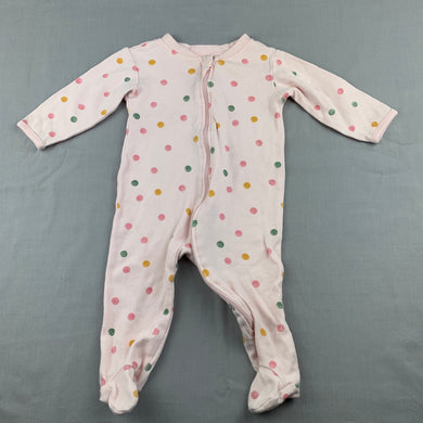Girls Anko, cotton zip coverall, romper, GUC, size 00,