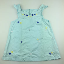 Load image into Gallery viewer, Girls Mom & Bab, blue cotton embroidered summer top, GUC, size 5