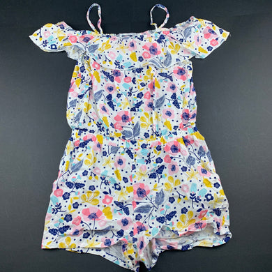 Girls 1964 Denim Co, lightweight floral summer playsuit, EUC, size 8,