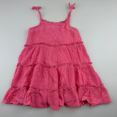 Girls Anko, pink casual summer dress, GUC, size 1, L: 45 cm