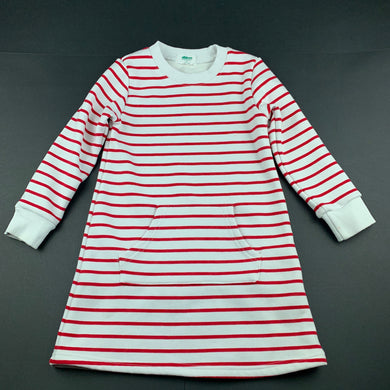 Girls Alfaberry, fleece lined sweater dress, small marks left sleeve & front, FUC, size 4, L: 55cm