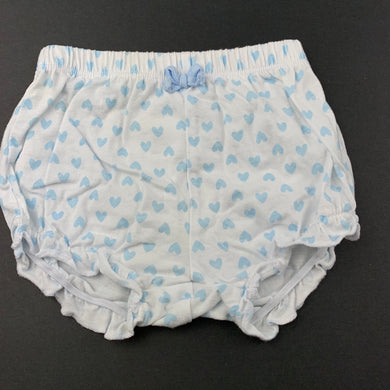 Girls Anko, blue and white cotton shorts, elasticated, EUC, size 00,