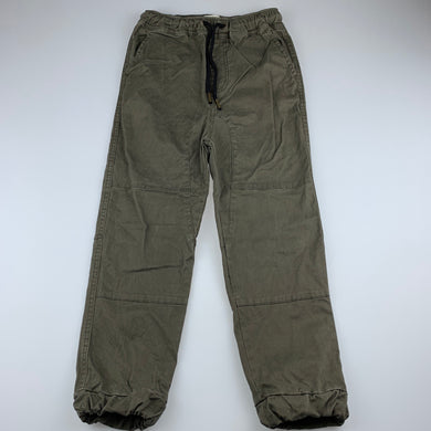 Boys Academy Lifestyle Outfitters, khaki stretch cotton pants, elasticated, EUC, size 8,