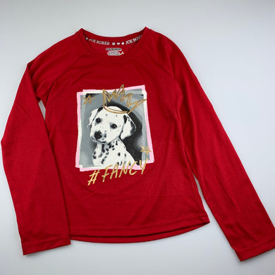 Girls Joe Boxer, long sleeve pyjama top, dog, GUC, size 10-12,