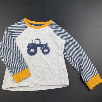 Boys Anko, long sleeve pyjama top, tractor, FUC, size 4,
