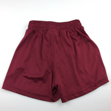 Load image into Gallery viewer, Boys Bocini, maroon sports lightweight shorts, elasticated, GUC, size 6