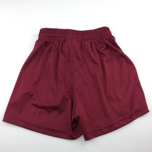 Boys Bocini, maroon sports lightweight shorts, elasticated, GUC, size 6