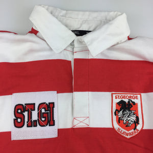 Boys NRL Supporter, St George Dragons thick cotton jersey / top, EUC, size 12