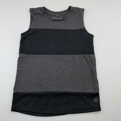 Boys Anko, black & grey activewear top, FUC, size 4,