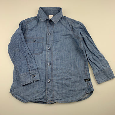Boys Bonds, lightweight denim long sleeve shirt, GUC, size 4,