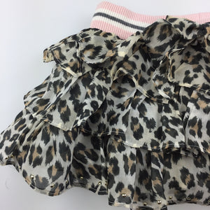 Girls Monnalisa, gorgeous tiered leopard print party skirt, GUC, size 12 months