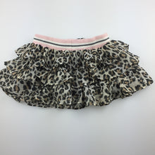 Load image into Gallery viewer, Girls Monnalisa, gorgeous tiered leopard print party skirt, GUC, size 12 months