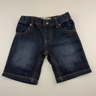 Boys Breakers, dark denim shorts, adjustable, EUC, size 4,
