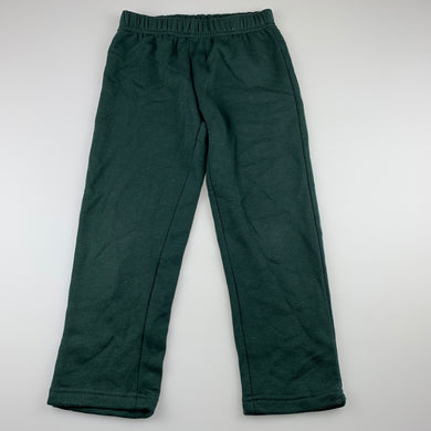 unisex B Collection, green fleece lined track / sweat pants, EUC, size 4,