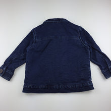 Load image into Gallery viewer, Girls Next, faux fur lined denim jacket, GUC, size 1