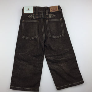 Boys Gap, dark brown denim pants, adjustable, NEW, size 2