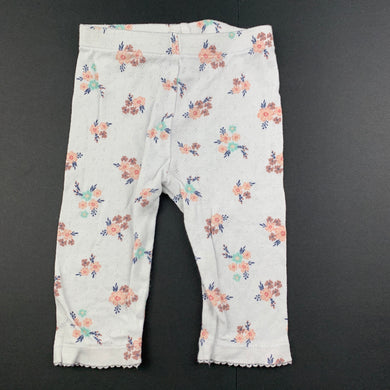 Girls Anko, floral pointelle cotton leggings / bottoms, EUC, size 00,