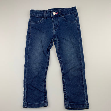 Girls 1964 Denim Co, stretch denim jeans, adjustable, Inside leg: 33cm, EUC, size 3,