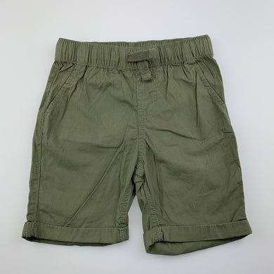 Boys Anko, khaki lightweight cotton shorts, elasticated, GUC, size 4,