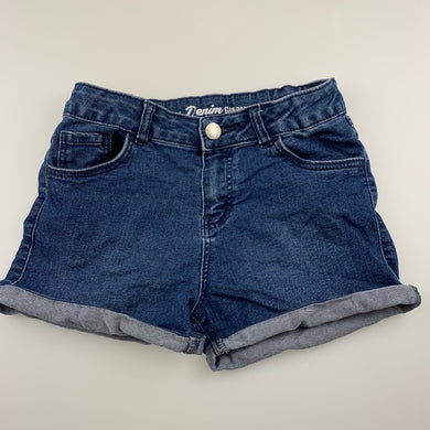 Girls 1964 Denim Co, blue stretch denim shorts, adjustable, GUC, size 7,