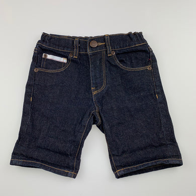 Boys Alphabet Soup, dark stretch denim shorts, adjustable, EUC, size 3,