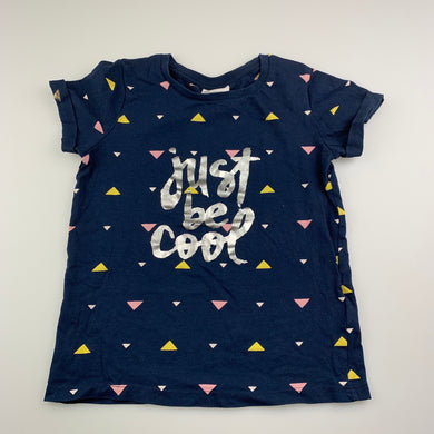 Girls B Collection, navy cotton t-shirt / top, cool, EUC, size 6,