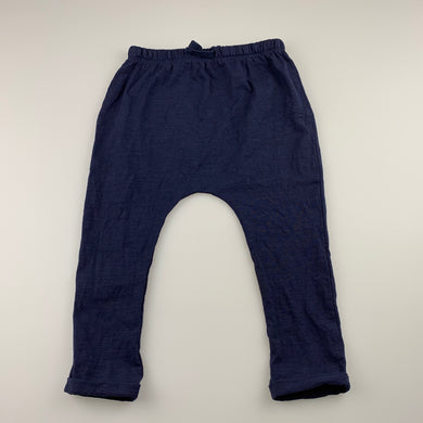 unisex Dymples, navy lightweight cotton pants / bottoms, GUC, size 2,