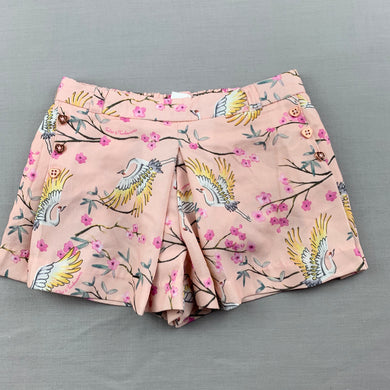 Girls Tutus & Tambourines, lined lightweight shorts, elasticated, flowers, birds, EUC, size 2,