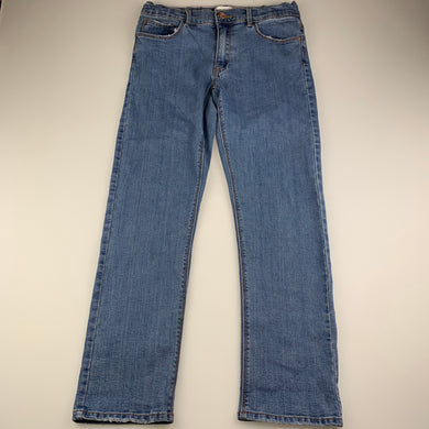 Girls Zara, stretch denim jeans, adjustable, Inside leg: 63cm, wear on cuffs & pockets, FUC, size 11-12,