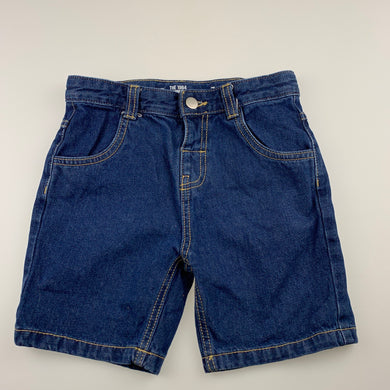 Boys 1964 Denim Co, blue denim jean shorts, adjustable, EUC, size 7,