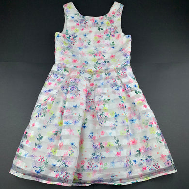 Girls John Rocha, lined lightweight floral party dress, EUC, size 11, L: 77cm