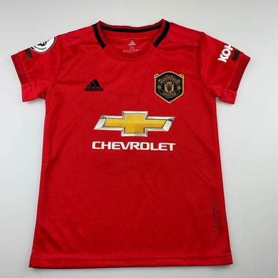 Girls Adidas, Angela, Manchester United Climalite sports / activewear top, armpit to armpit: 35.5cm, EUC, size 6-7,