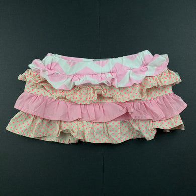 Girls And the Little Dog Laughed, ruffle skirt, built-in nappy cover, FUC, size 000-00,