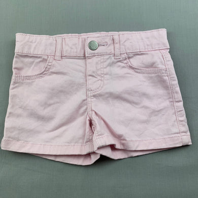 Girls 1964 Denim Co, pink stretch denim shorts, adjustable, EUC, size 2,