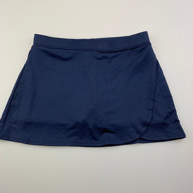 Girls Active & Co, navy sports skirt, built-in shorts, GUC, size 6,