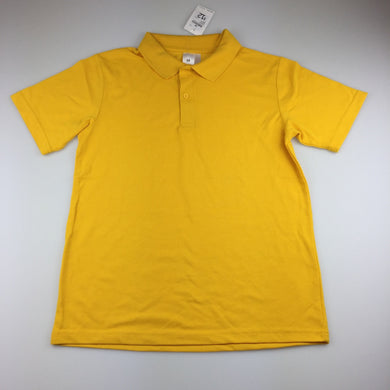 Unisex Target, gold school polo shirt, NEW, size 14