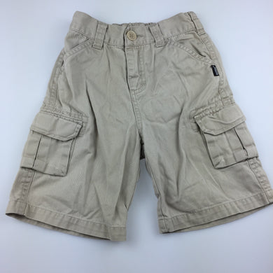 Boys Bonds, beige cotton cargo shorts, elasticated, GUC, size 2
