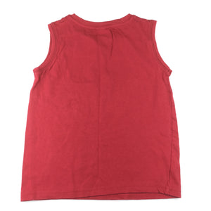 Boys H&T, red cotton tank top / muscle tee, GUC, size 6