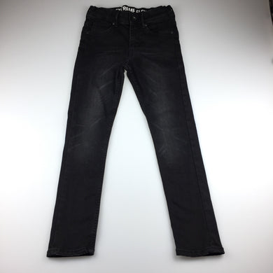 Girls H&M, super skinny fit black stretch jeans, inside leg: 59cm, GUC, size 9