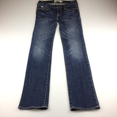 Girls Abercrombie, blue cute stretch jeans, inside leg: 68cm, waist: 62cm, GUC, size 10