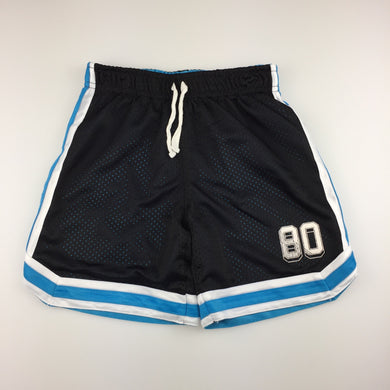 Boys H&T, black lined basketball shorts, elasticated, GUC, size 5