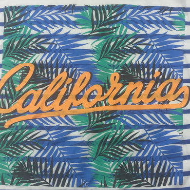 Boys Cotton On, striped cotton t-shirt / tee, California, GUC, size 7