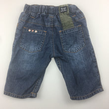 Load image into Gallery viewer, Boys Osh Kosh, cotton denim jeans, elasticated waist, GUC, size 000