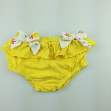 Girls Babies R Us, yellow cotton ruffle bloomers, GUC, size 00