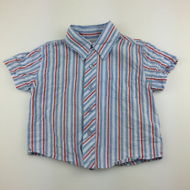 Boys Baby World, lightweight cotton short sleeve shirt, GUC, size 0